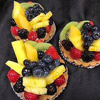 Seasonal fresh Fruit tart